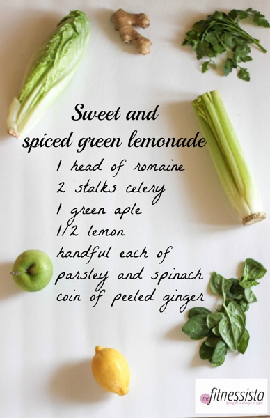 Sweet and spiced green lemonade