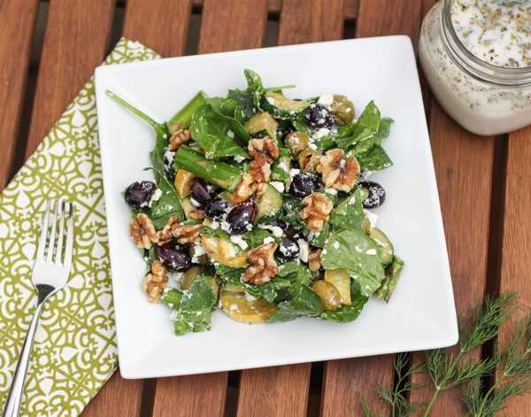 Crunch salad with ranch dressing  1 of 1