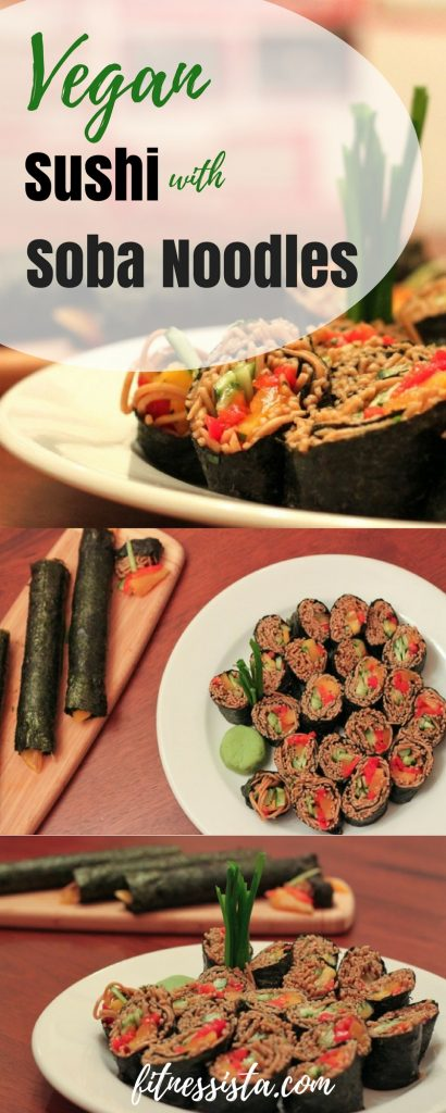 Vegan sushi with Soba Noodles