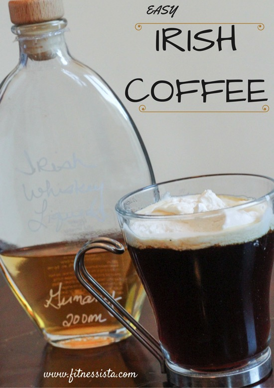 Easy irish coffee recipe - feel cozy, warm and happy inside with this Irish coffee! Perfect for a St. Patrick's Day drink or just for fun! fitnessista.com
