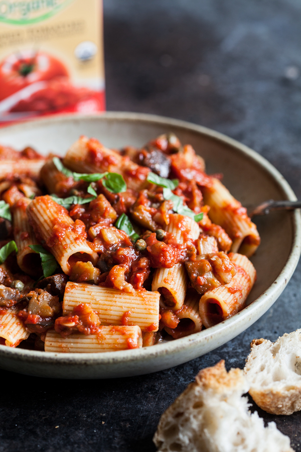 Vegan Rigatoni Alla Norma | The Full Helping