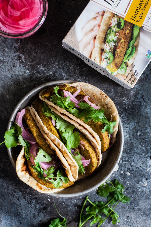 Bombay Wraps with Apple Raisin Chutney & Quick Pickled Onions | The Full Helping